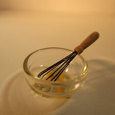DOLL HOUSE MINIATURE ~ KITCHEN WHISK AND BOWL ~ 1/12 scale