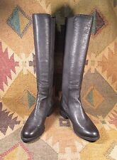 $$$ Cole Haan Nike Air Jodhpur Black Leather Knee High Boots  size USA -7B