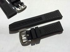 22mm Black Silicone Rubber Watch Band Strap for Dive Scuba Watch fit 22mm LUG
