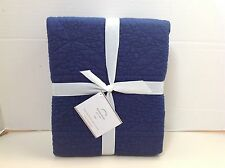 Pottery Barn Twilight Blue HANNA Quilted Euro Sham  New with Tags
