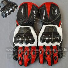 MV Agusta  Motorbike Racing Leather Gloves / Pro Metal Gloves / Leather Gloves