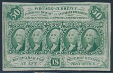 FR1312 50¢ AU+ 1ST ISSUE STRAIGHT EDGES FRACTIONAL WITH MONOGRAM BT738