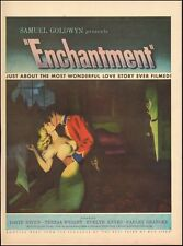 1948 vintage movie ad for ENCHANTMENT w/ David Niven Teresa Wright  ART (122414)