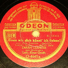 "ZARAH LEANDER & E. GROTH ""One like you can' i dear!"" ODEON 1943 10"""