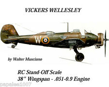 "Model Airplane Plans (RC):VICKERS WELLESLEY 38"" 1/24 Stand-off Scale .051-.09"
