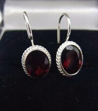 Handcrafted 925 Sterling Silver earring's Garnet Earrings #1