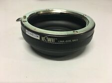 Kiwifotos Lens Adapter -Canon EF EOS lens on Panasonic - Canon EOS to M43