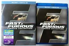 FAST & FURIOUS 7 MOVIE COLLECTION BLU RAY 8 DISC SET + SLIPCOVER & BONUS DISC
