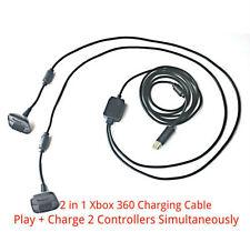 2 in1 3m Long USB Chargeur + jeu plomb de charge câble pour contrôleur XBOX 360 PAD