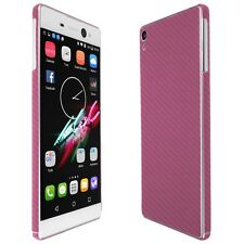 Skinomi Pink Carbon Fiber Skin+Clear Screen Protector for Sony Xperia XA Ultra