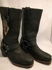 Harley Davidson Black Leather Women's 85355 Hustin Harness Boots Size 5 NEW