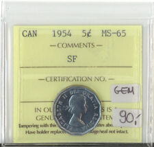 Canada 1954 5 Cents MS-65 ICCS Certified SF GEM XXO 034