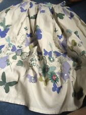 MONSOON BUTTERFLY PRINT SKIRT FULLY LINED EX CON SIZE 8-10 Yrs