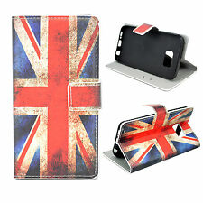 UK Flag Leather Phone Skin Wallet Flip Cover Case For Samsung Galaxy S6 Edge