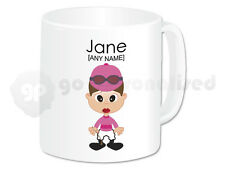 Personalised Gift Female Jockey Mug Horse Rider Present Novelty Fun Christmas #5