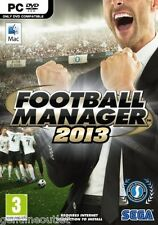 FOOTBALL MANAGER 2013 for (PC/MAC DVD) SEALED NEW