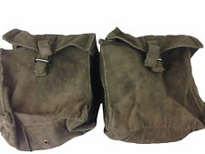 British 58 Pattern Cotton Webbing Double Kidney Pouch Set Olive Drab Green Used
