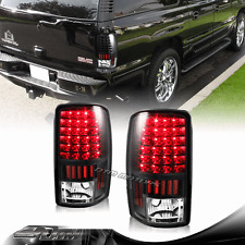 Black Housing LED Rear Tail Lights For 00-06 Chevy GMC Tahoe Suburban 1500 2500