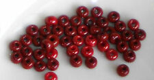 #118 Vintage Glass Beads Bulk Bright Red 4mm Tiny Small NOS Shabby Spacers