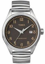 NEW Mens Timex Retro T2N400 Watch Stainless Expansion Band$105 Indiglo Originals