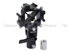 Detachable 3-Hot Shoe Mount Flash Bracket/Umbrella Holder for Light Stand/Tripod