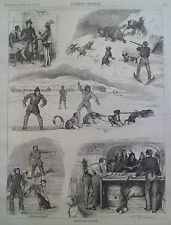 Sketches of Hudson Bay Company Canada 1877 HARPER'S WEEKLY