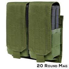 Condor 191089 OD Double Mag Pouch MOLLE 5.56mm .223cal Rifle Magazine Holster