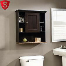 Bathroom Medicine Cabinet Wall Mount Storage Shelves Door Organizer Vanity Wood