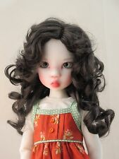Monique BEA Wig Nearly Black Size 7-8 MSD BJD shown on Miki by Kaye Wiggs