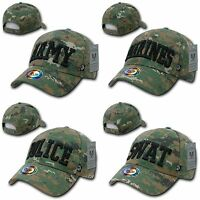Army Marines Police SWAT Camo Digital Camouflage Military Law Cap Caps Hat Hats