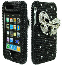 for iPhone 3G, 3GS Bling Case Black Hard / Silver Stars and 3D Bow