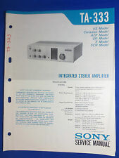 SONY TA-333 INTEGRATED AMPLIFIER  SERVICE MANUAL FACTORY ORIGINAL GOOD CONDITION