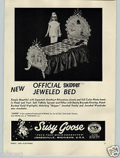 1965 PAPER AD Susy Goose Official Skipper Doll Jeweled Bed Toy