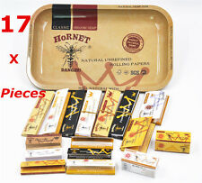 17 Pieces - HORNET 1 X Rolling Tray + 14X Rolling Papers+ 2 X Paper Filter Tips