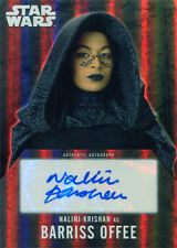Star Wars Evolution 2016 Autograph Card Nalini Krishan as Barriss Offee