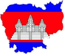 Sticker car moto map flag vinyl outside wall decal macbbook cambodia
