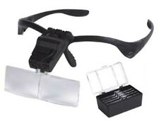 Bracket Headband Eye Goggle Flip Loupe Magnifying Glass VISOR Magnifier 2x LED
