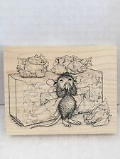 Stampa Rosa House Mouse Achooo Mudpie 1998 Rubberstamp 260