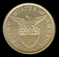 50 Centavos 1921 US-Philippine Silver Coin UNC - Stock # 3