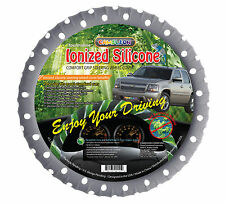 "Gray Polka Dot Silicone Steering wheel cover Ionized Limited Edition! 14"" to 16"""