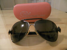 Occhiali da sole pelle strass Blumarine aviator sunglasses leather