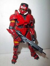 Halo 3 Series 2 **RED EOD Spartan Soldier** 100% Complete w/ Weapon!!