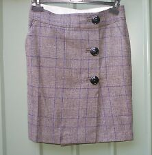 BY MALENE BIRGER checked wool blend  skirt size 36 / 10