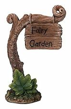 BRAND NEW LARGE FAIRY GARDEN SIGN GARDEN ORNAMENT FAIRIES/PIXIES