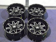 "12"" YAMAHA VIKING F1 ALUMINUM ATV WHEELS NEW SET 4 - LIFETIME WARRANTY T4"