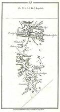 Antique map, Road from Dublin to Sligo, by Longford (3)