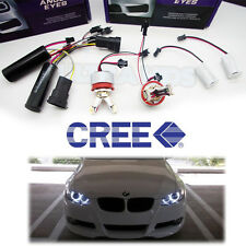 BMW 40w split H8 4 CREE LED ANGEL EYES MARKER UPGRADE E70 X5 MODELS WITH XENONS