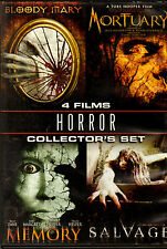 DVD 4-IN-1 HORROR FILMS BLOODY MARY MORTUARY MEMORY SALVAGE