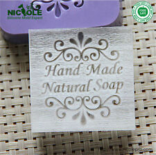 """5X5cm """"Handmade Natural Soap"""" Patterns Organic Glass Acrylic Soap Seal Stamp"""
