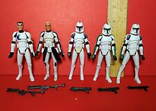 Star Wars The Clone Animated Series Basic Trooper Army Builder Lot Blasters REX+